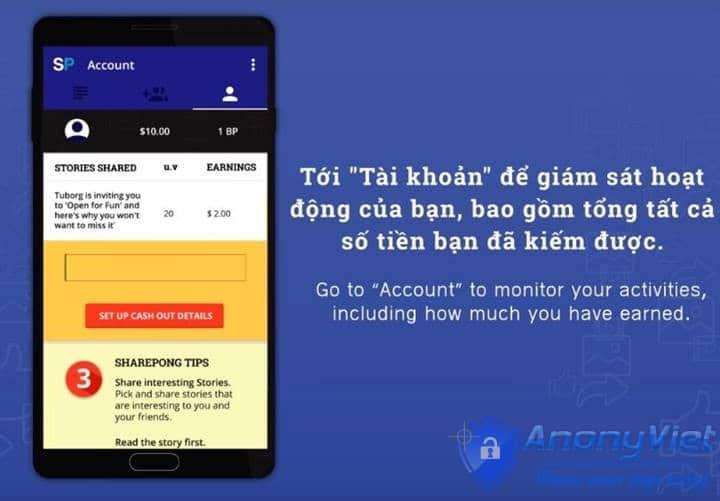 6 - Hướng dẫn kiếm tiền Online với SharePong do báo VNExpress giới thiệu