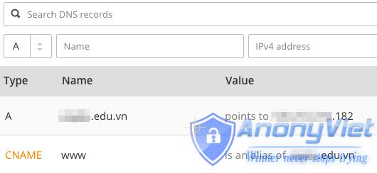 Cấu hình DNS Cloudflare