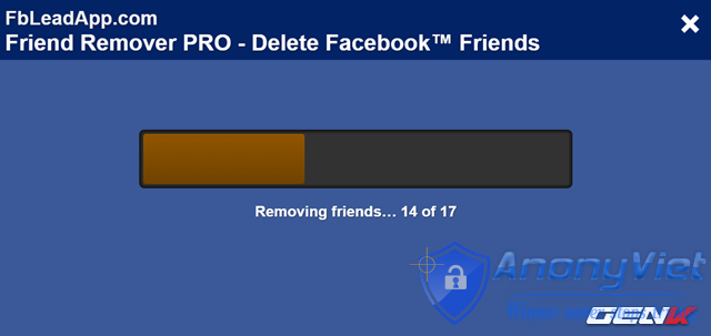 Xóa tất cả bạn bè Facebook trong 2s 35
