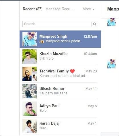 Xóa Tất cả Thông điệp trên Facebook vào Một lần