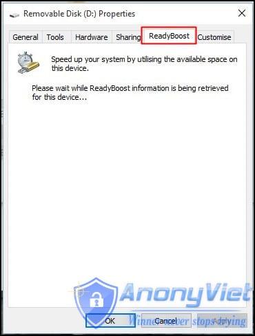 Sử dụng ReadyBoost trong Windows 7, 8, 10