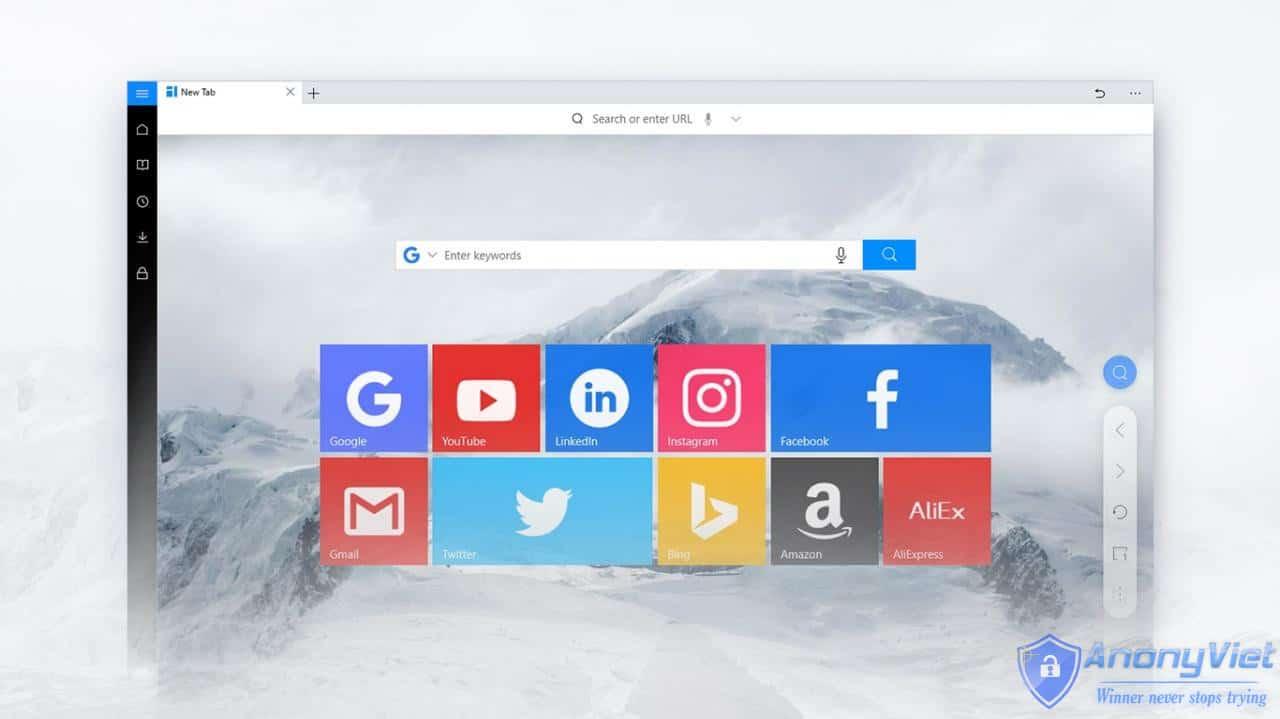 cyAAu - UC Browser trình duyệt nên dùng cho Windows 10