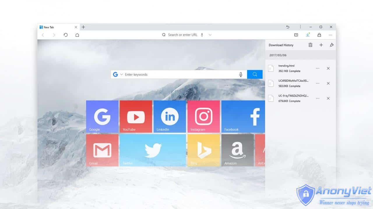 cyn2s - UC Browser trình duyệt nên dùng cho Windows 10