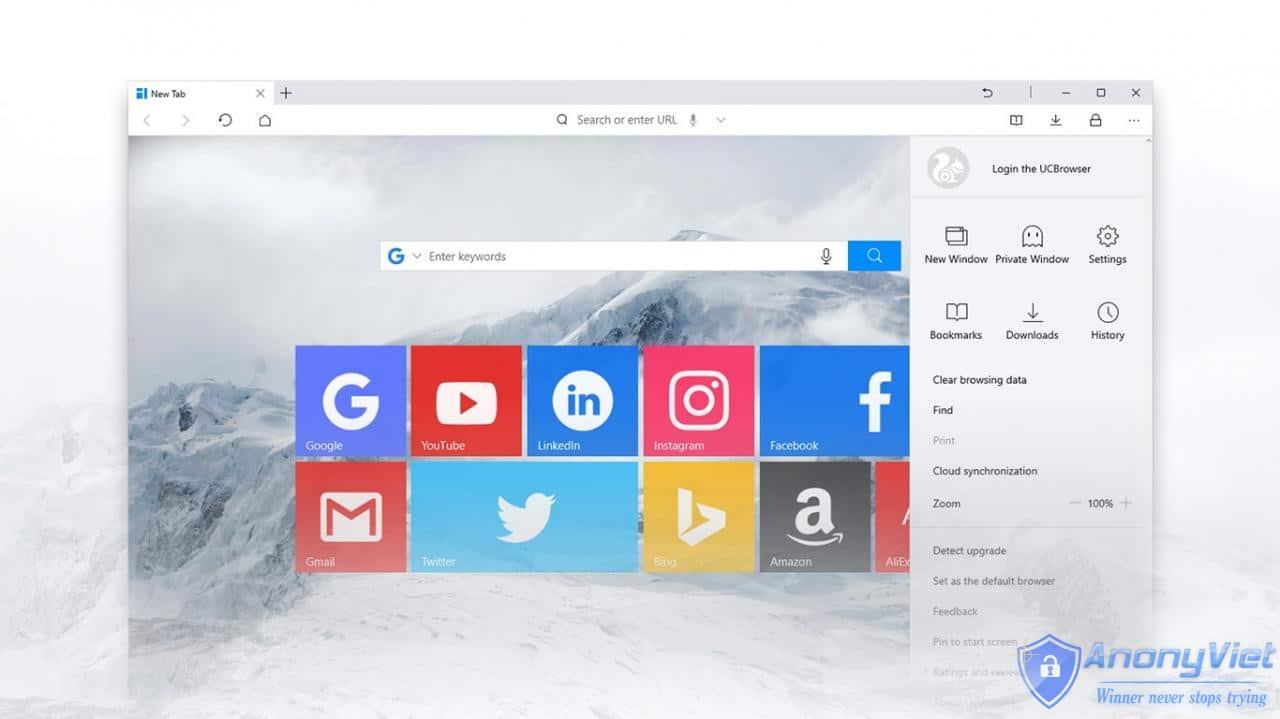 cysOH - UC Browser trình duyệt nên dùng cho Windows 10