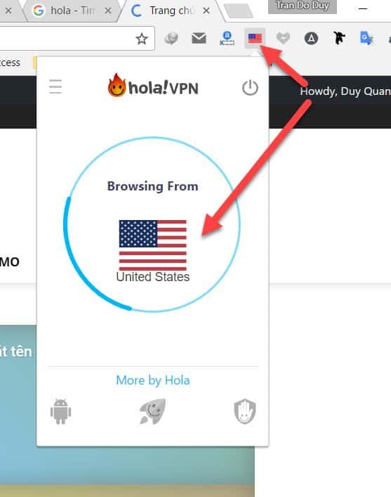 Sử dụng Extension VPN cho trình duyệt để vào web bị chặn