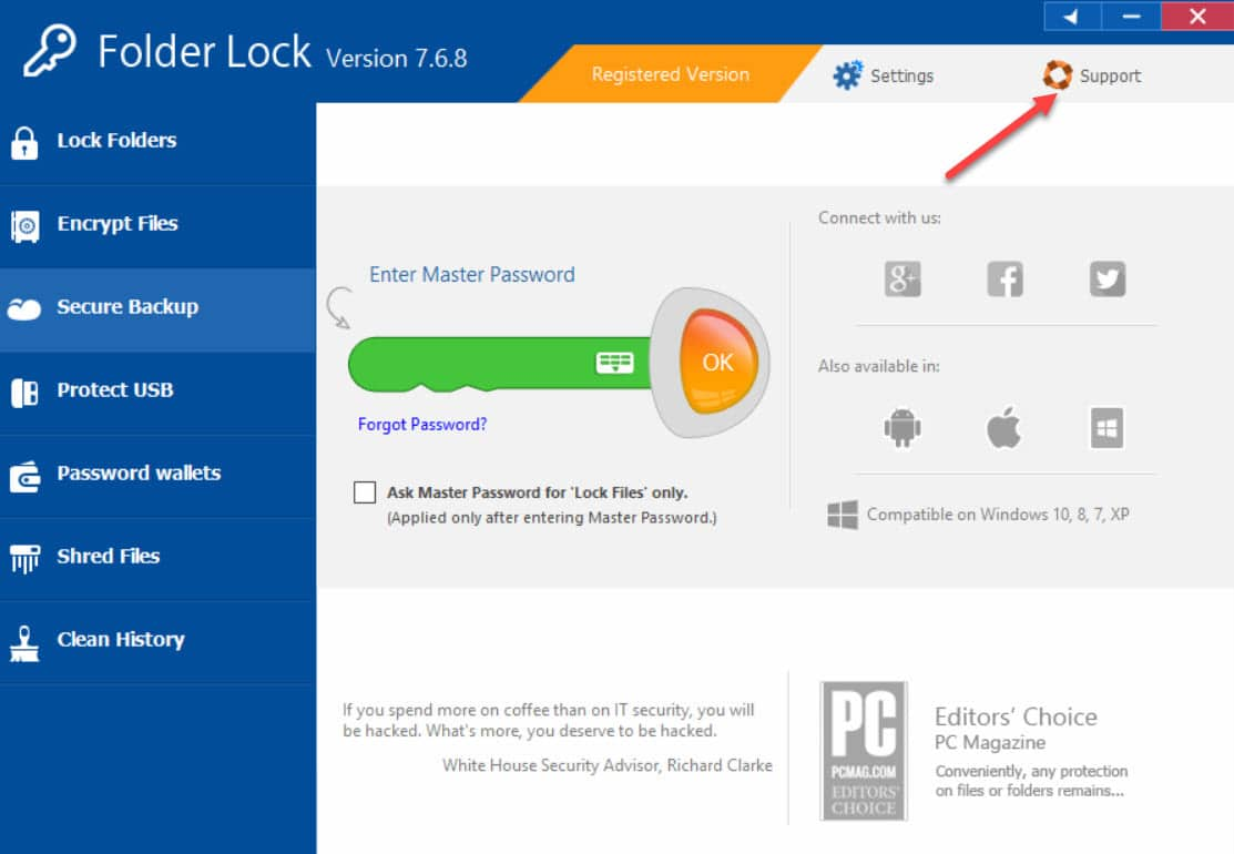 Folder Lock 7.6.8 Full Giúp Khóa và bảo vệ Tập tin Thư mục 1