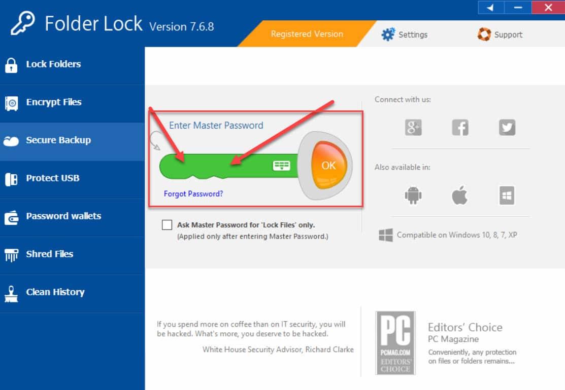 1gx - Folder Lock 7.6.8 Full Giúp Khóa và bảo vệ Tập tin Thư mục