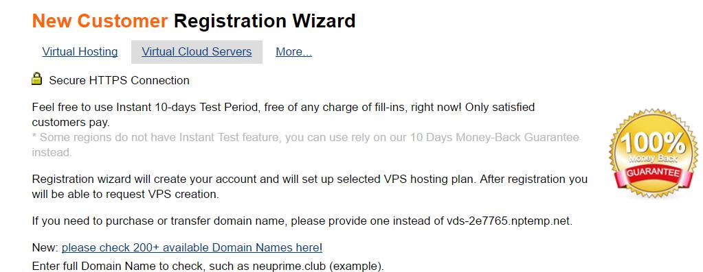Đăng ký VPS miễn phí 10 ngày với NeuPrime 7