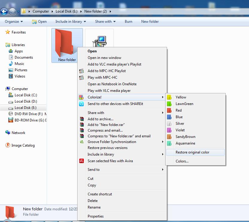 Thay đổi Màu sắc của một Mục Trong Windows
