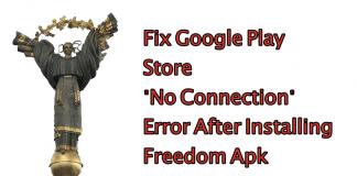 Khắc Phục Lỗi CHPlay Không Kết Nối Được Do Cài FreeDom 4