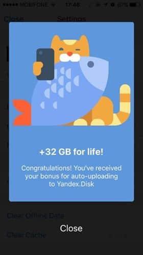 Hướng dẫn nhận 42GB lưu trữ miễn phí của Yandex.Disk 14