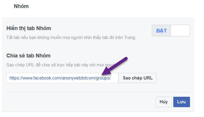 Cách tạo liên kết FANPAGE với GROUP Facebok 35