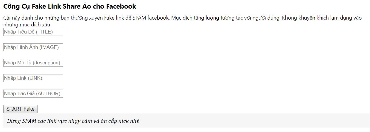 Hướng dẫn Fake link Facebook để spam 13