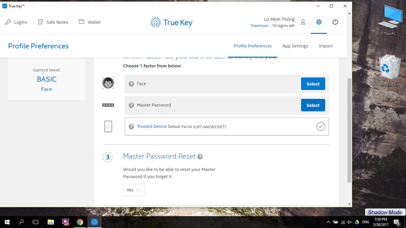 Hướng dẫn quét khuôn mặt mở khóa Windows 10 18