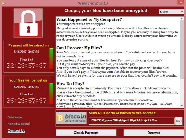 Wana Decrypt0r screenshot - [Download] Ransomware WannaCry Virus tống tiền  mạnh nhất 2017
