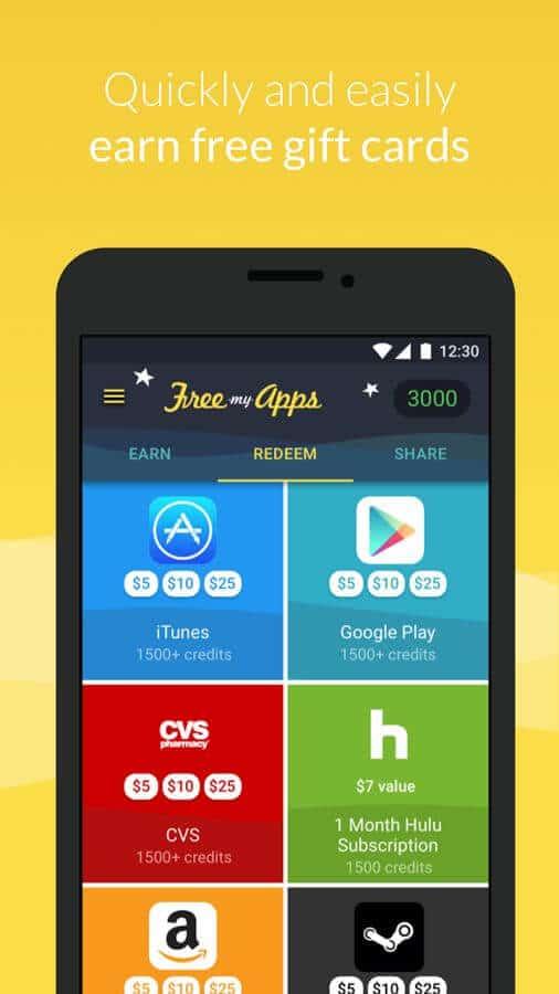 Thẻ quà tặng miễn phí của Google Play để đổi mã