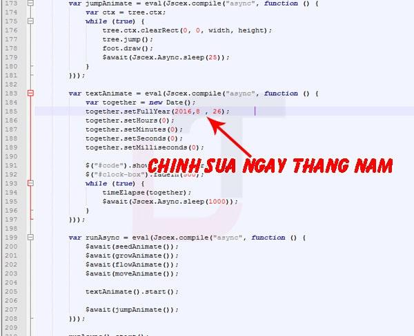 Share code Web Tỏ tình đẹp và cách chỉnh sửa nội dung 12