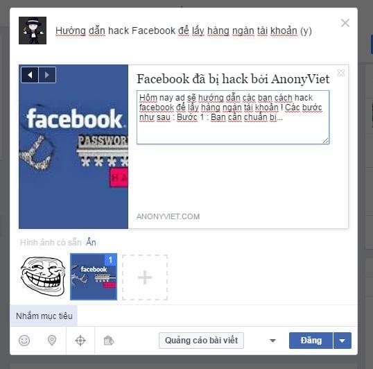 Hướng dẫn Fake link Facebook để spam 15