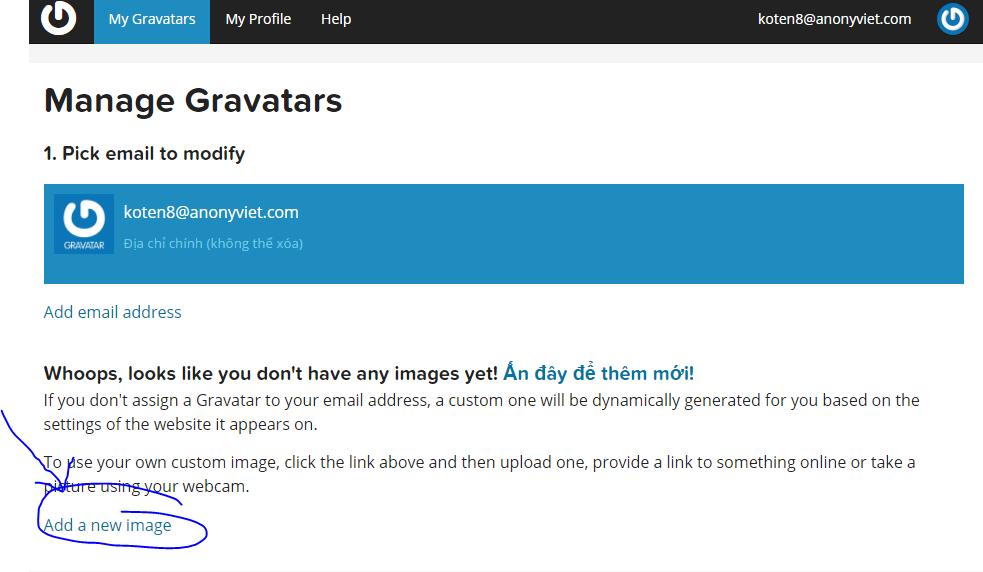 3 - Dùng Gravatar đặt ảnh đại diện cho Comment trong AnonyViet