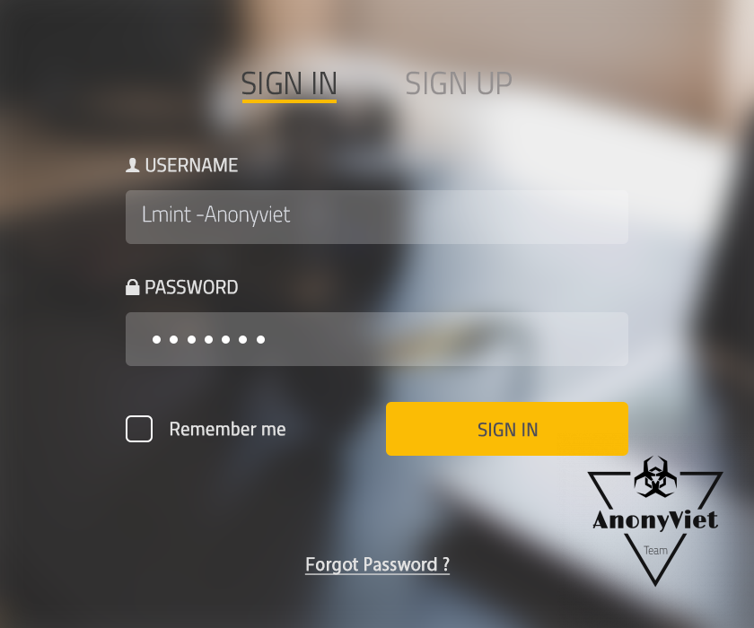 PSD - Giao diện Login website by AnonyViet 4