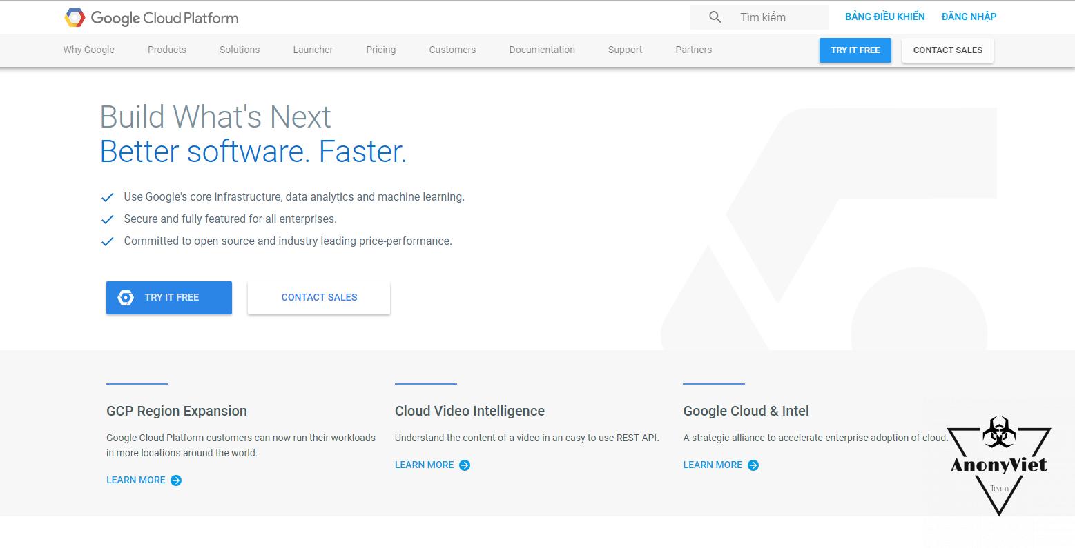 Cách đăng ký VPS Free 2 tháng của Google 1
