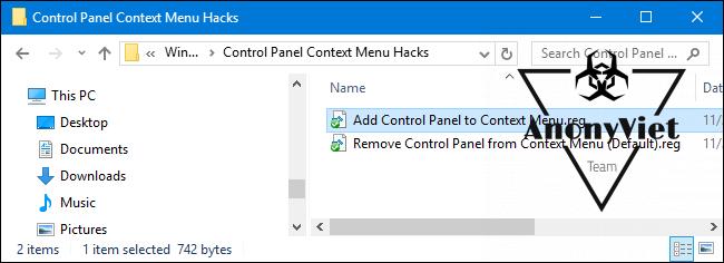 acp 7 650x236 - Hướng dẫn thêm Control Panel vào Menu Right Click