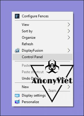 acp a - Hướng dẫn thêm Control Panel vào Menu Right Click