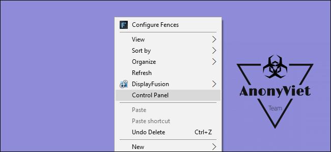 Hướng dẫn thêm Control Panel vào Menu Right Click 3