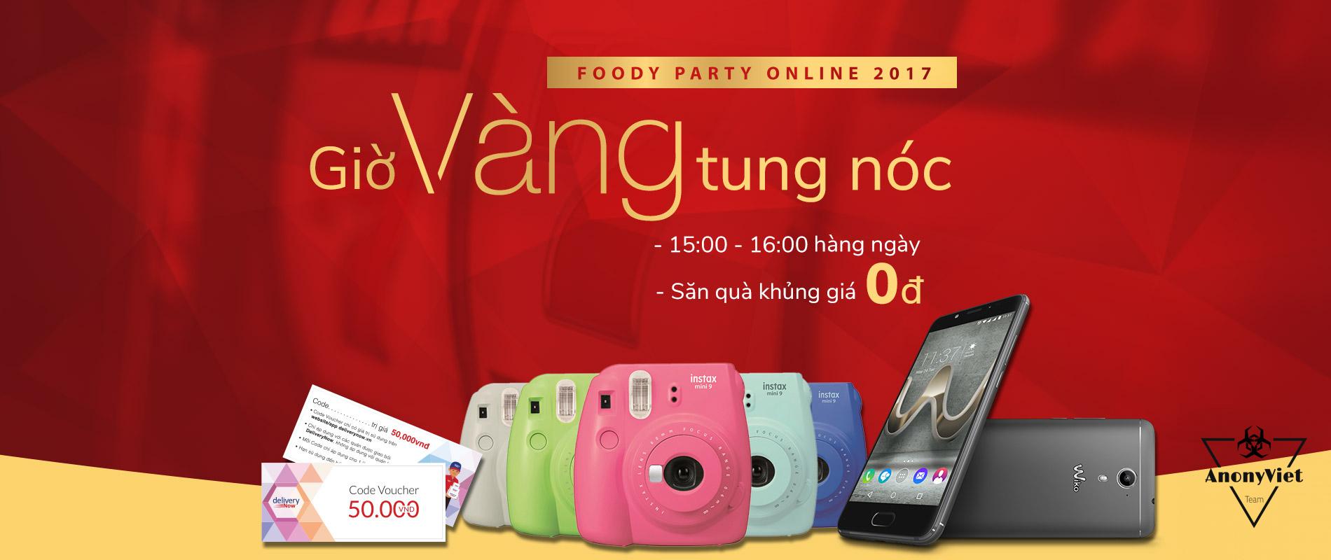 1900x800 Party Online 2017 GioVang - Hướng dẫn săn quà Foody cực HOT
