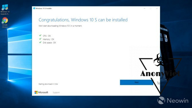 Hướng dẫn Download Windows 10 S 22
