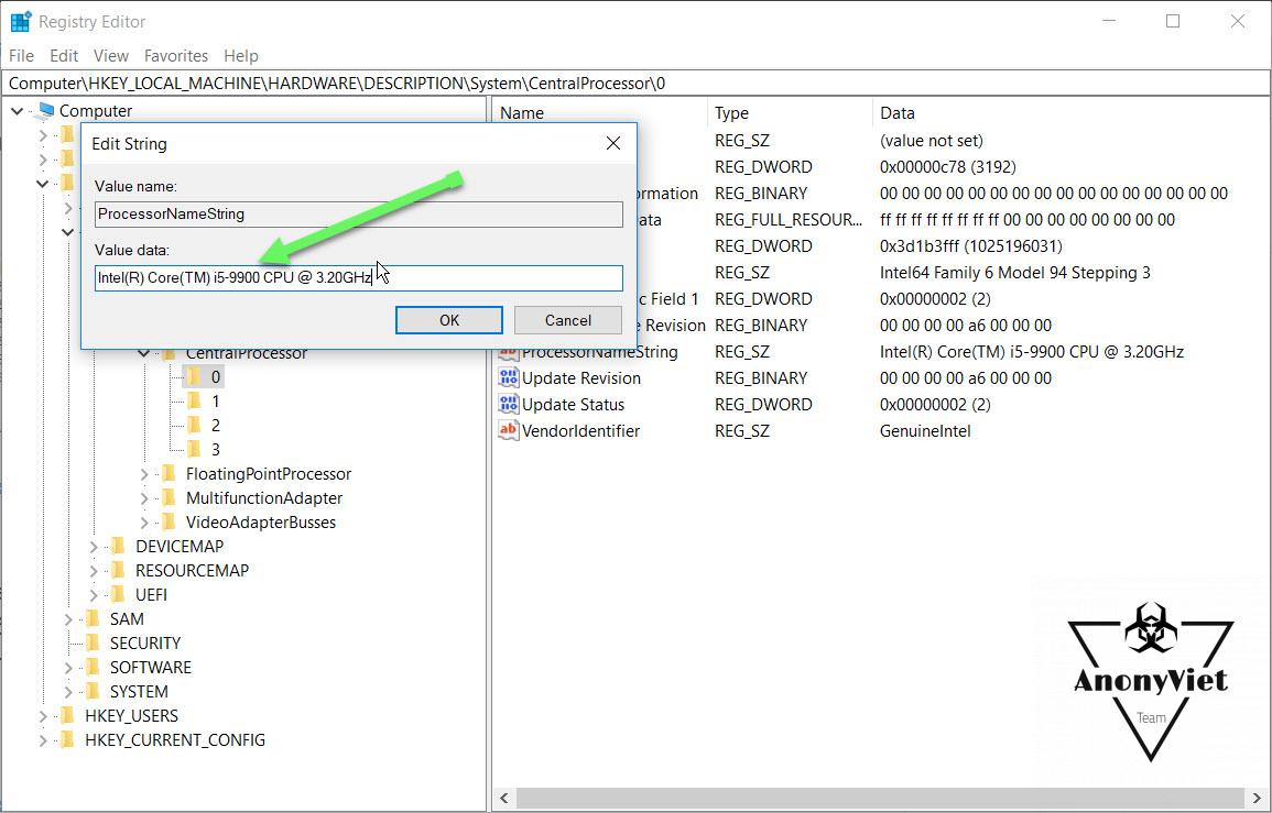 Hướng dẫn chỉnh sửa thông tin CPU trên Windows 18