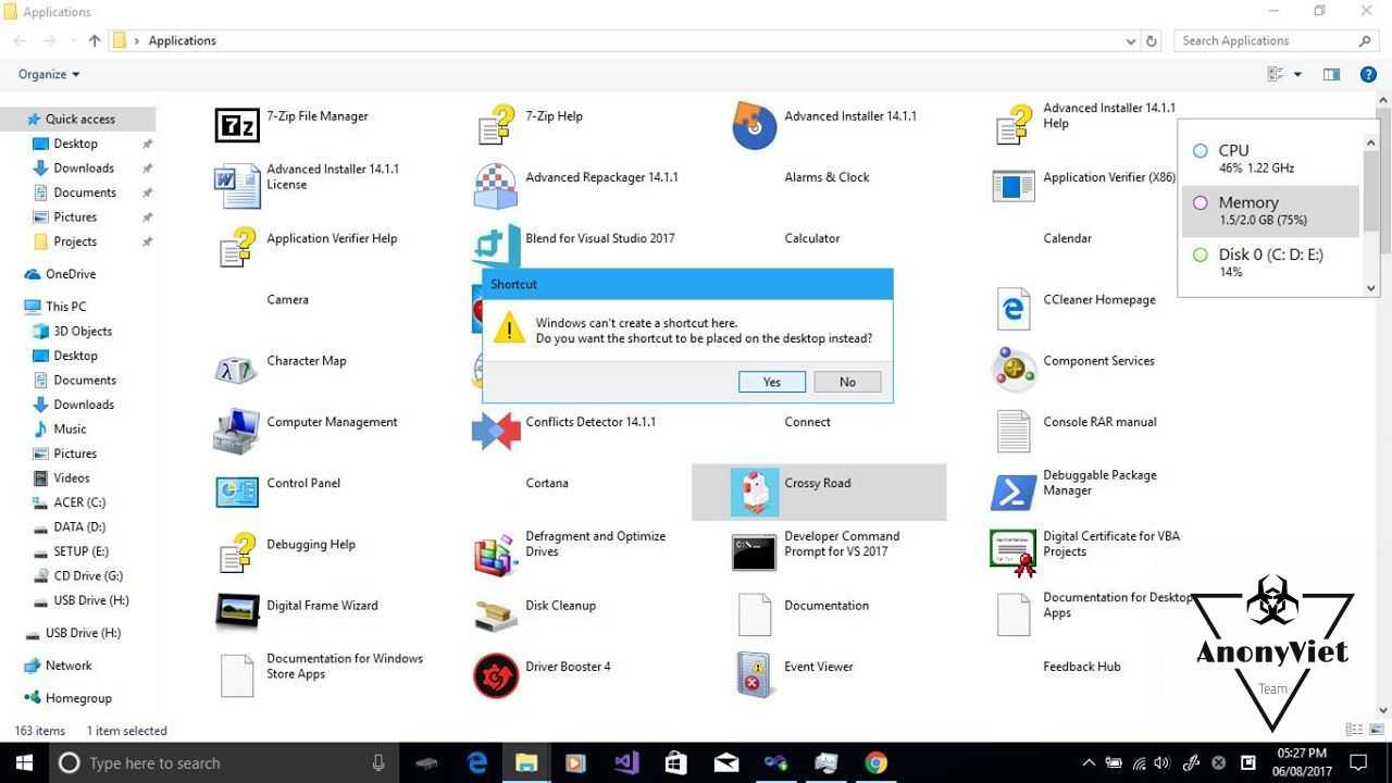 Cách đưa Shortcut Apps Windows 10 ra ngoài Desktop 19