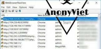 Tool lấy mật khẩu đã lưu trên trình duyệt WebBrowserPassView 1