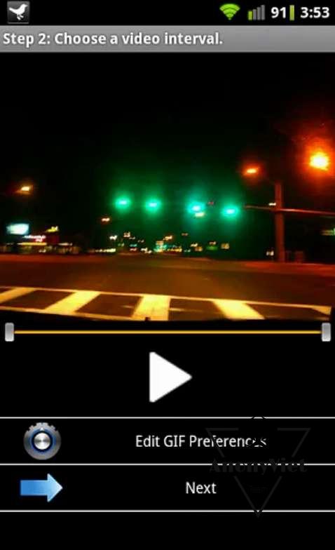 choose video interval - Các cách tạo ảnh Gif trên Android tốt nhất