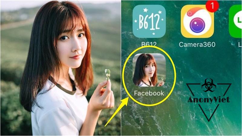 Hướng dẫn dùng ảnh riêng để đổi icon Facebook trên điện thoại 1