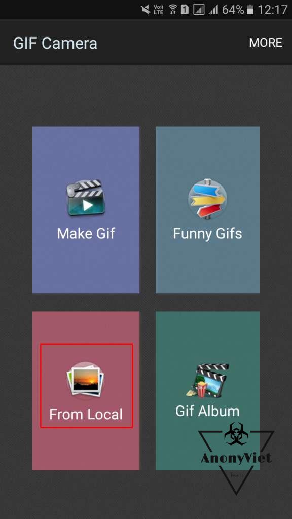 gif camera - Các cách tạo ảnh Gif trên Android tốt nhất