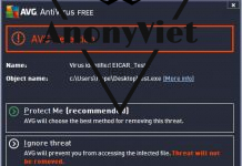 Code test Anti Virus