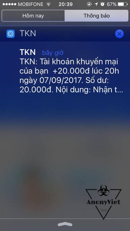 Hướng dẫn nhận 20.000đ trên điện thoại với TKN 12