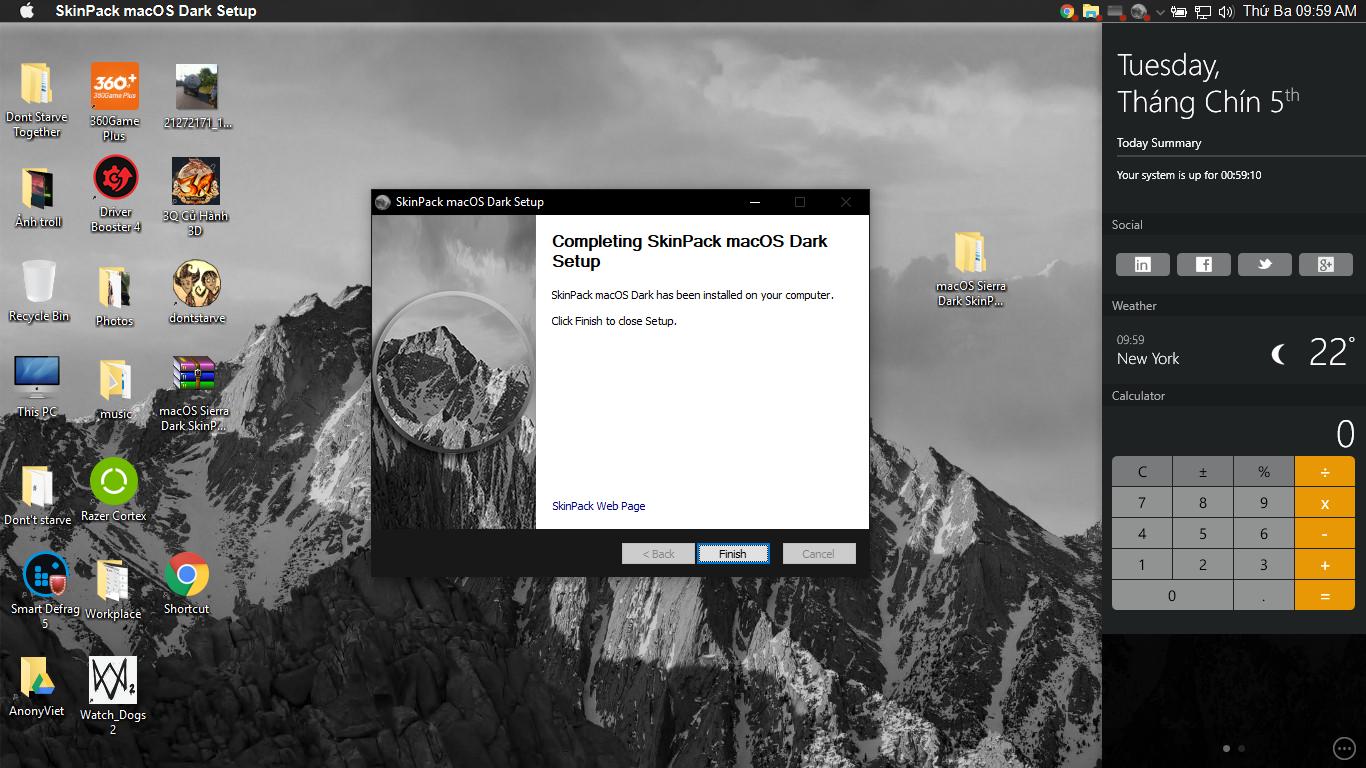 Hướng dẫn đổi giao diện Windows sang MacOS 38