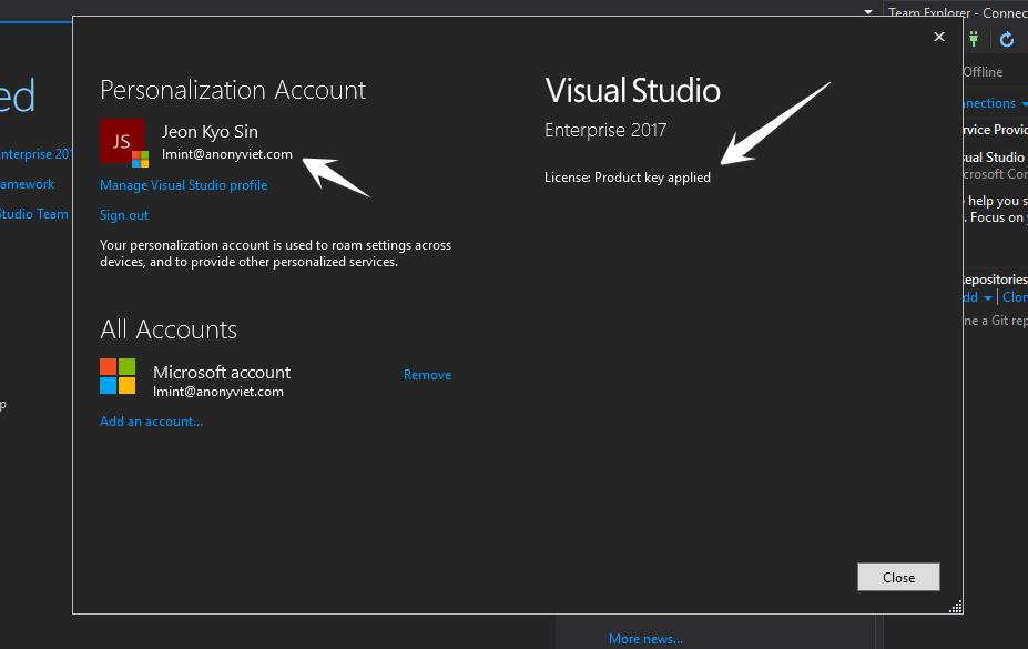Share key bản quyền Visual Studio Enterprise 2017 1