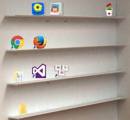ke - Hướng dẫn trang trí Desktop 3D cực đẹp