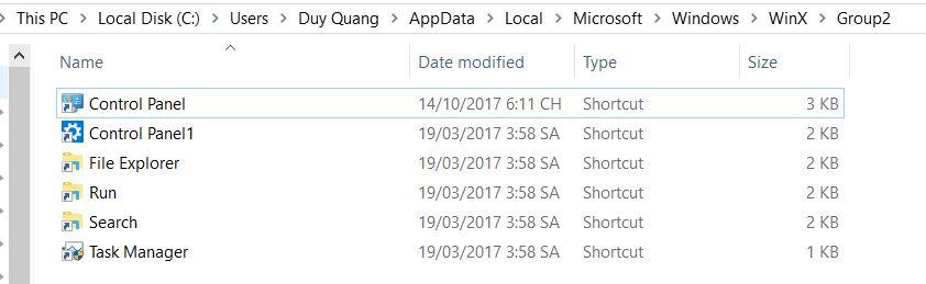 Hướng dẫn đưa Control Panel vào menu Windows X trên Windows 10 21
