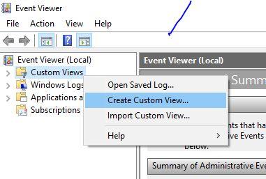 custom viewer - Cách theo dõi thời gian bật tắt máy tính với Event Viewer