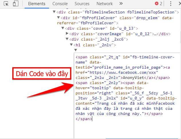 dan code tick facebook - Share code tạo Tick xanh Facebook