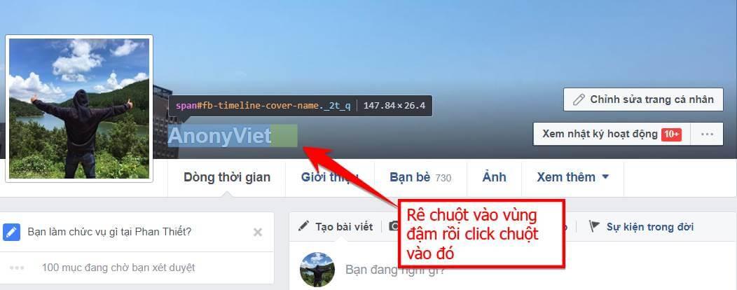 re - Share code tạo Tick xanh Facebook