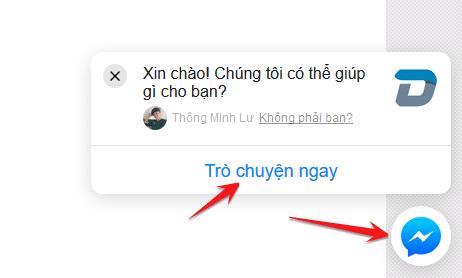 Cách cài đặt live chat Facebook cho Website 3