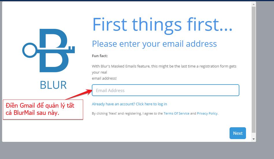 Đăng ký mail không giới hạn