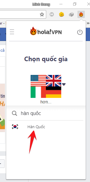 korean hola, fake ip hàn quốc