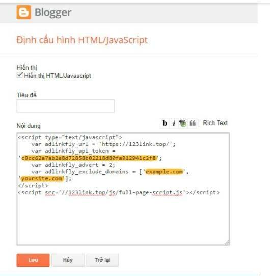 1 3 - Hướng dẫn tạo Web kiếm tiền từ link rút gọn