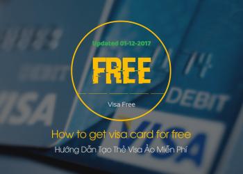 Hướng Dẫn Tạo Thẻ Visa Ảo Miễn Phí